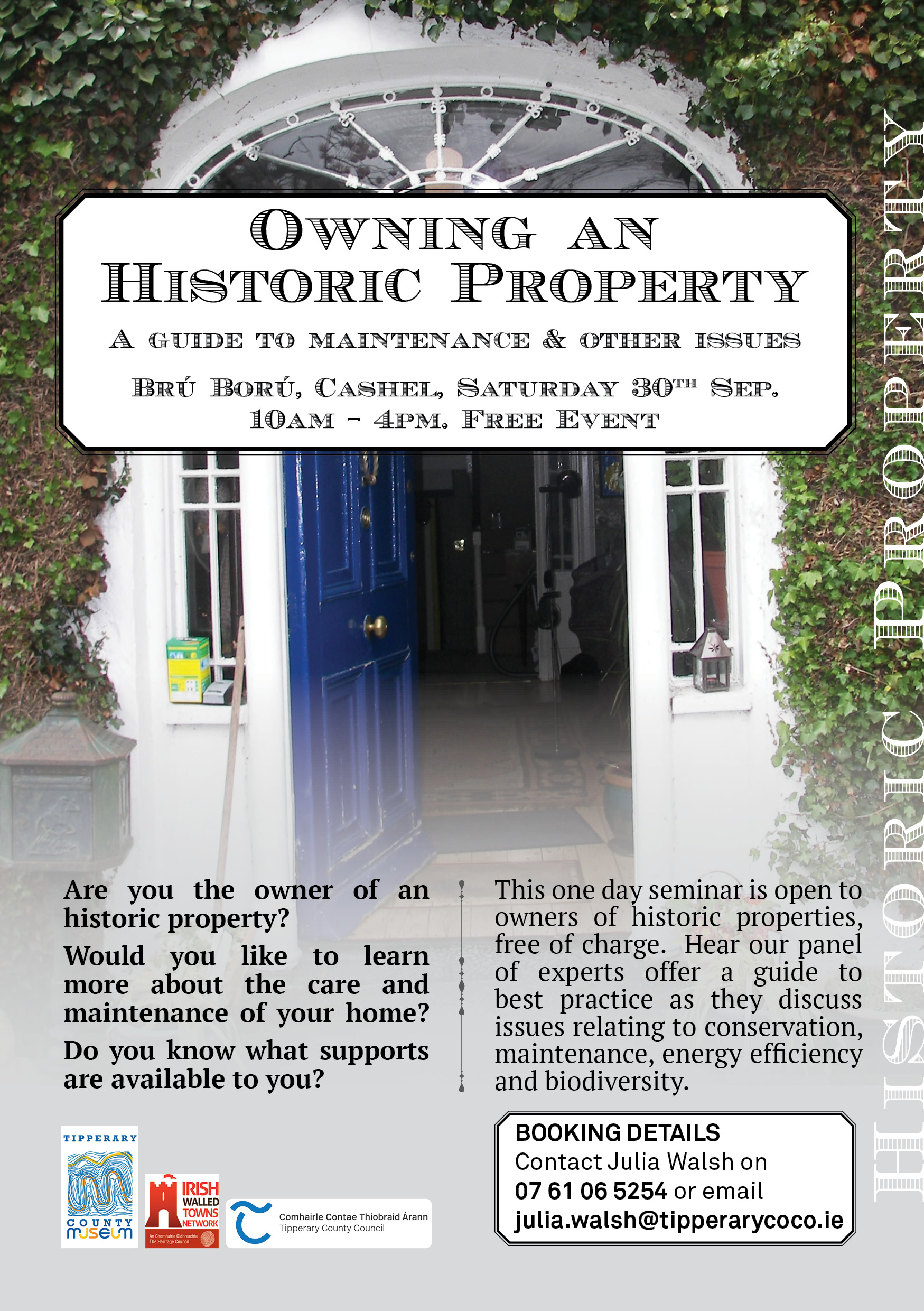 Home contact guides booking - Historic Properties Flyer Jpg