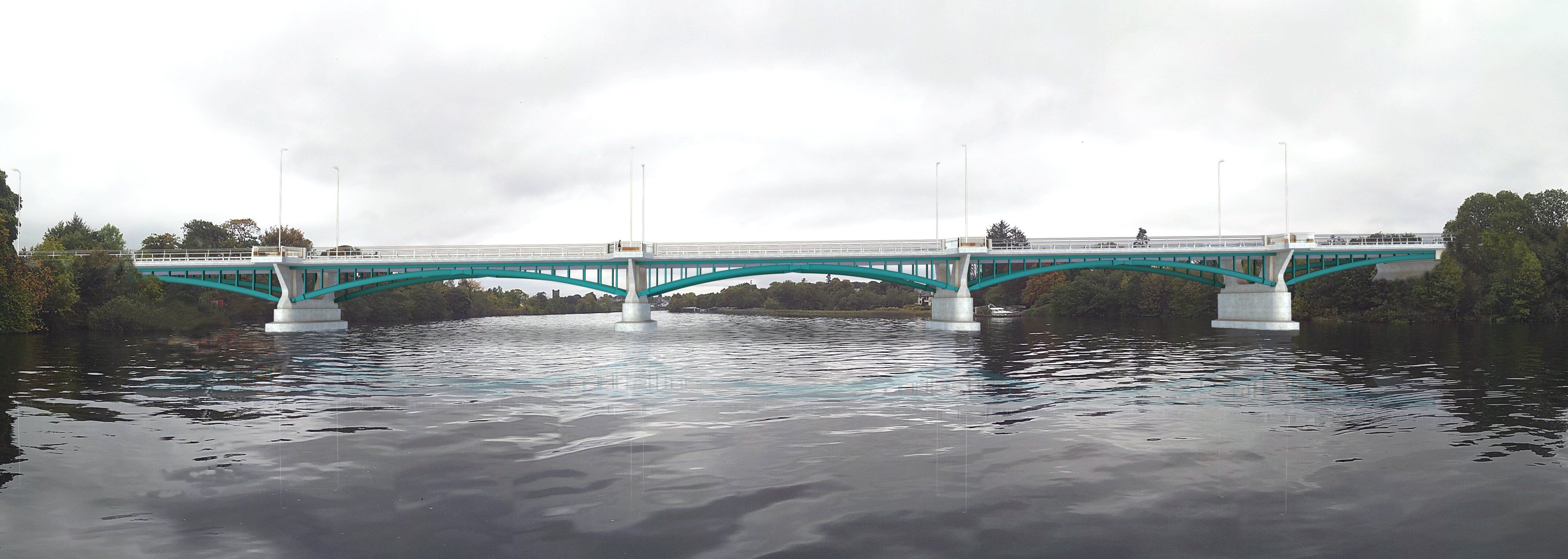 Visualisation of the new bridge crossing of the River Shannon