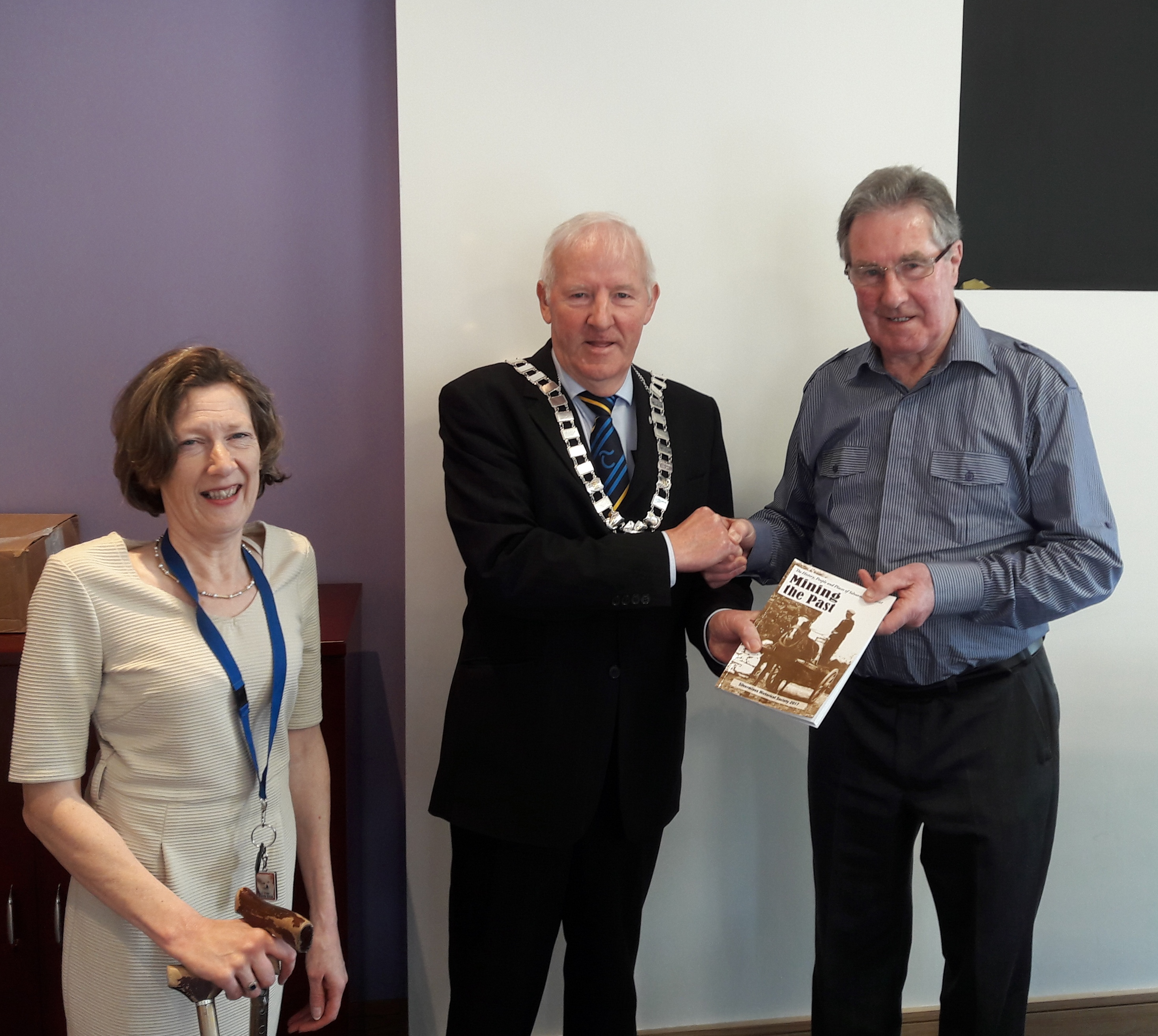 "Silvermines Historical Society's scoop 1st prize in Listowel Writers Week with their local history book ""Mining the Past"", (2017 Edition), and document The Birth of a Group Scheme for generations to come."