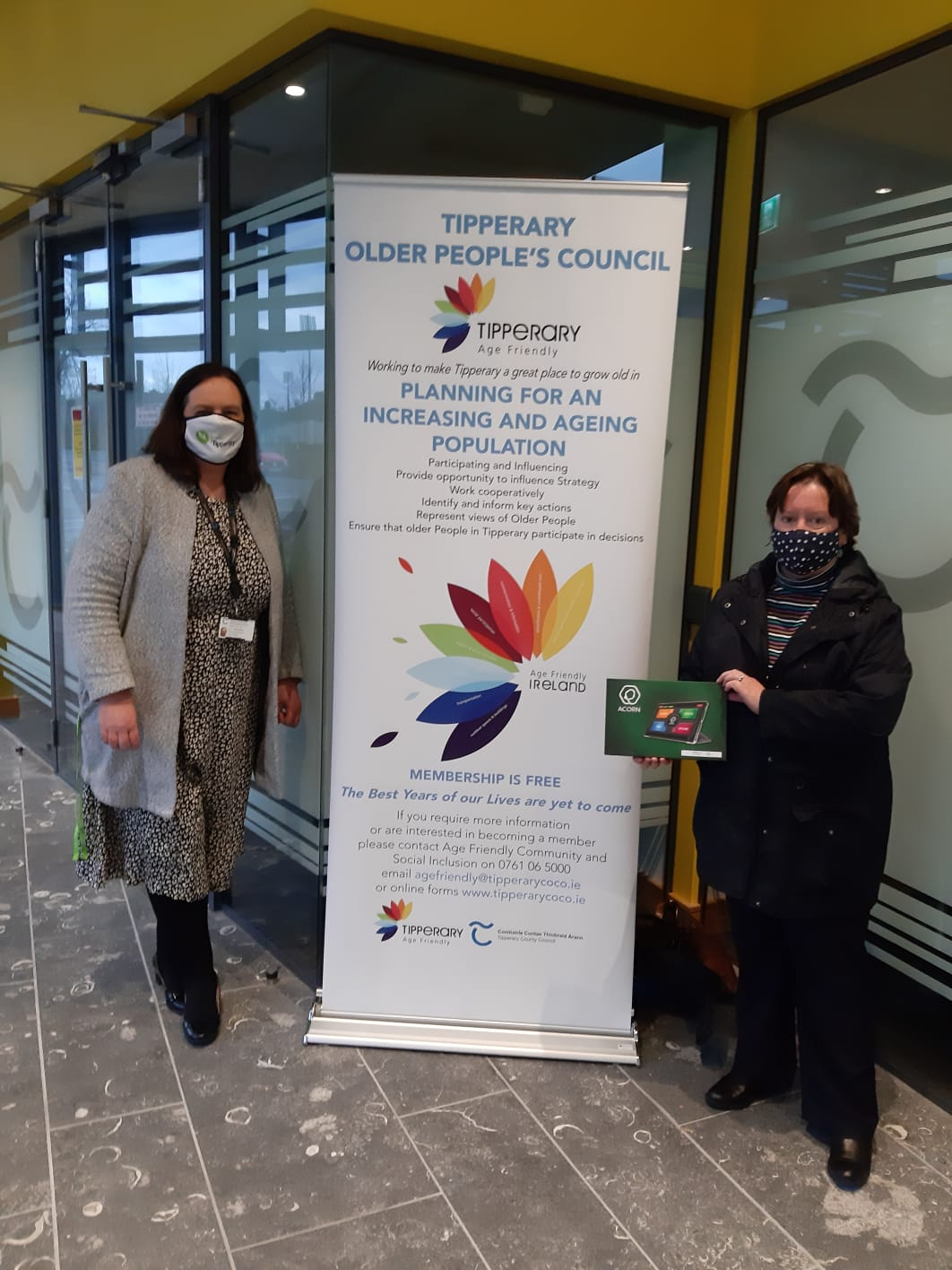 Mary McMahon Millennium Family Resource Centre Glengoole and Fiona Crotty TIpperary Age Friendly Programme Manager