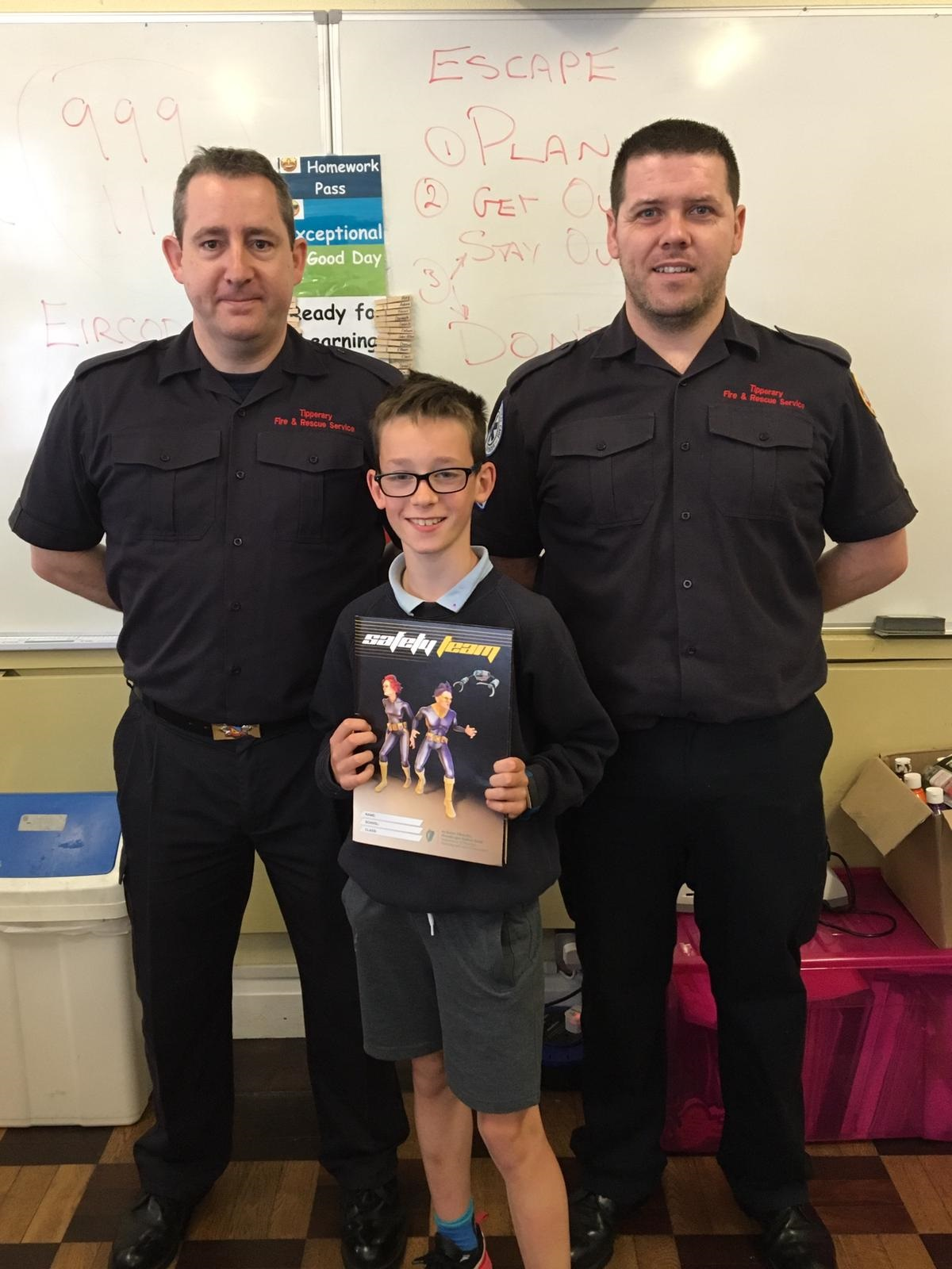 FF M. O'Conner S.O Donnell with Noah Meehan from St. Mary's Clonmel