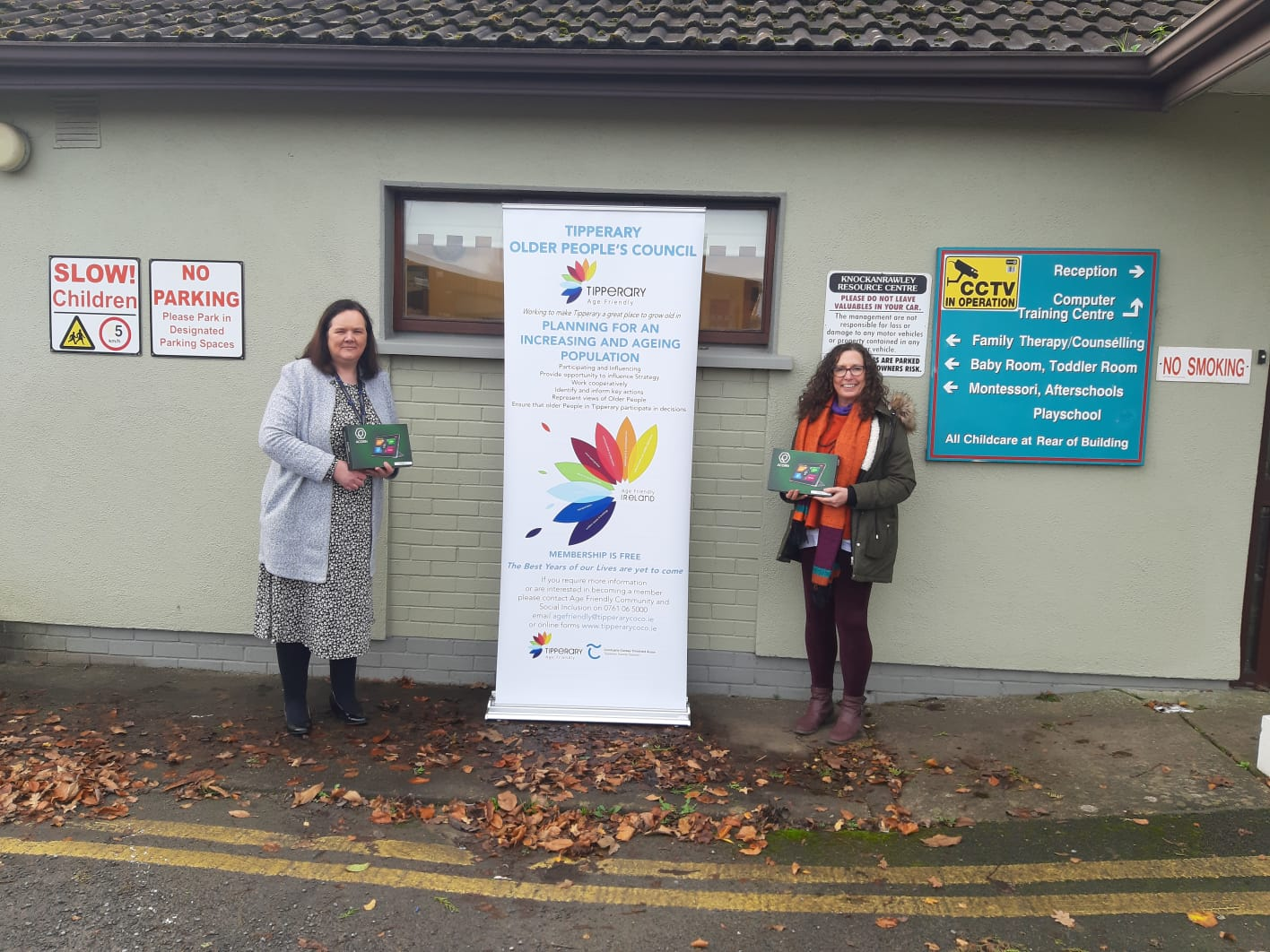 Ruth Smith Knockanrawley Community Resource Centre and Fiona Crotty Tipperary Age Friendly Programme Manager
