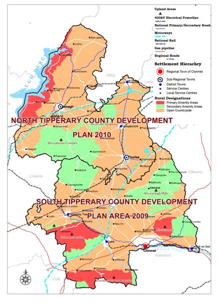 County Tipperary Ireland Map.Tipperary County Development Plans Www Tipperarycoco Ie