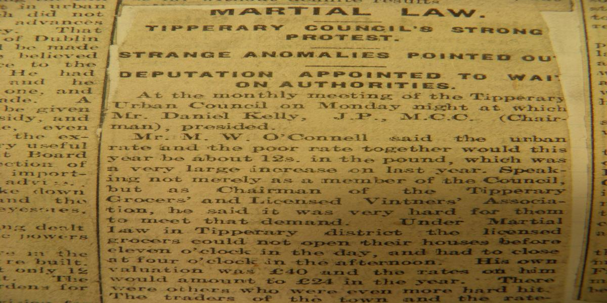 Report of meeting of Tipperary UDC, 2nd June 1919