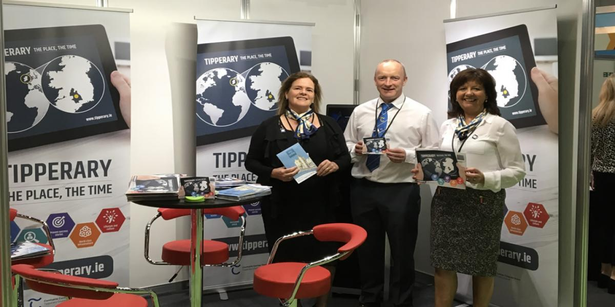 Pictured; Anthony Fitzgerald, Rita Guinan and Kathleen Prendergast at the Tipperary Stand.