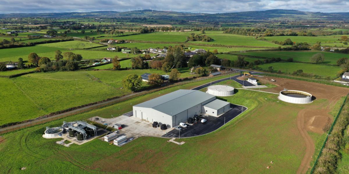 An aerial shot of the new Water Treatment Plant at Killeenyarda, near Holycross