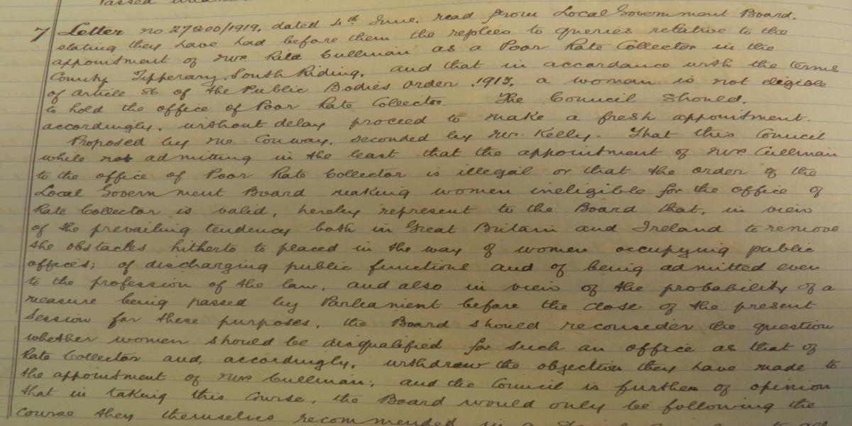 Tipperary South Riding County Council Minutes, 14th June, 1919
