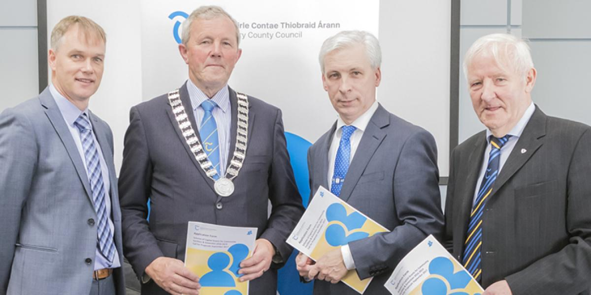Michael Moroney, Administrative Officer, Tipperary County Council, Cllr. Roger Kennedy, Leas-Cathaoirleach, Tipperary County Council, Joe Mac Grath, Chief Executive, Tipperary County Council, Cllr. Mattie Ryan (Coole).
