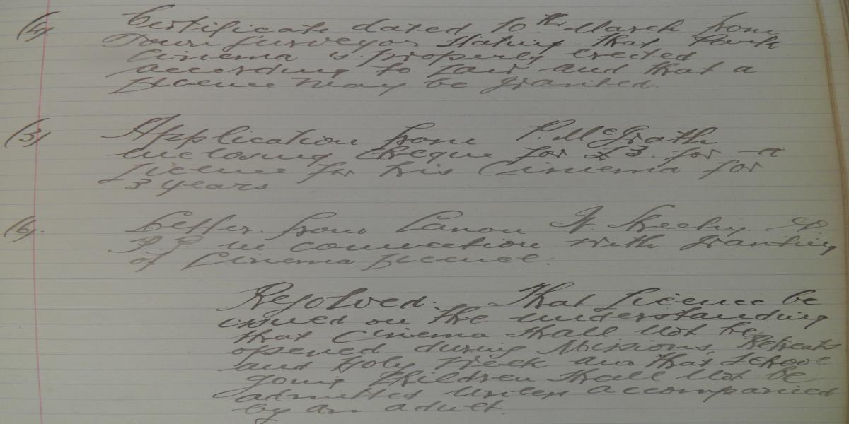Extract from Minutes of Carrick-on-Suir UDC, 4th April 1919