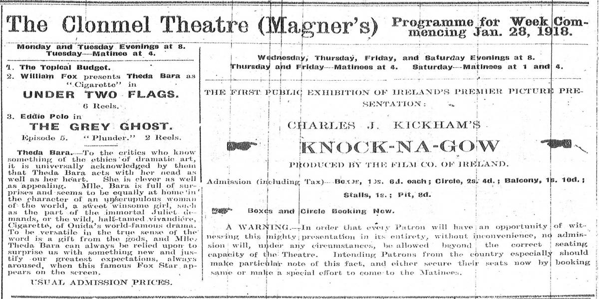 Extract from The Nationalist, January 1918