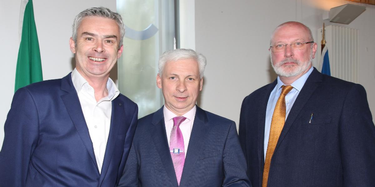 Photo L to R: David Fitzsimons, Retail Excellence Ireland, Joe MacGrath, Chief Executive, Tipperary County Council, and Simon Wall, Senior Architect, Mayo County Council.