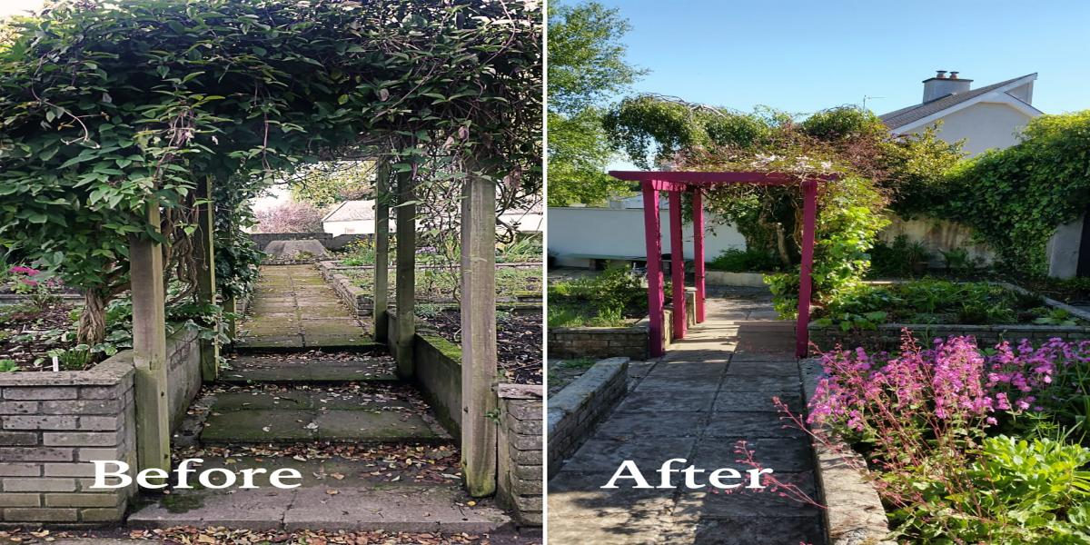 Temperance Hall Garden enhancement Works - Before and after