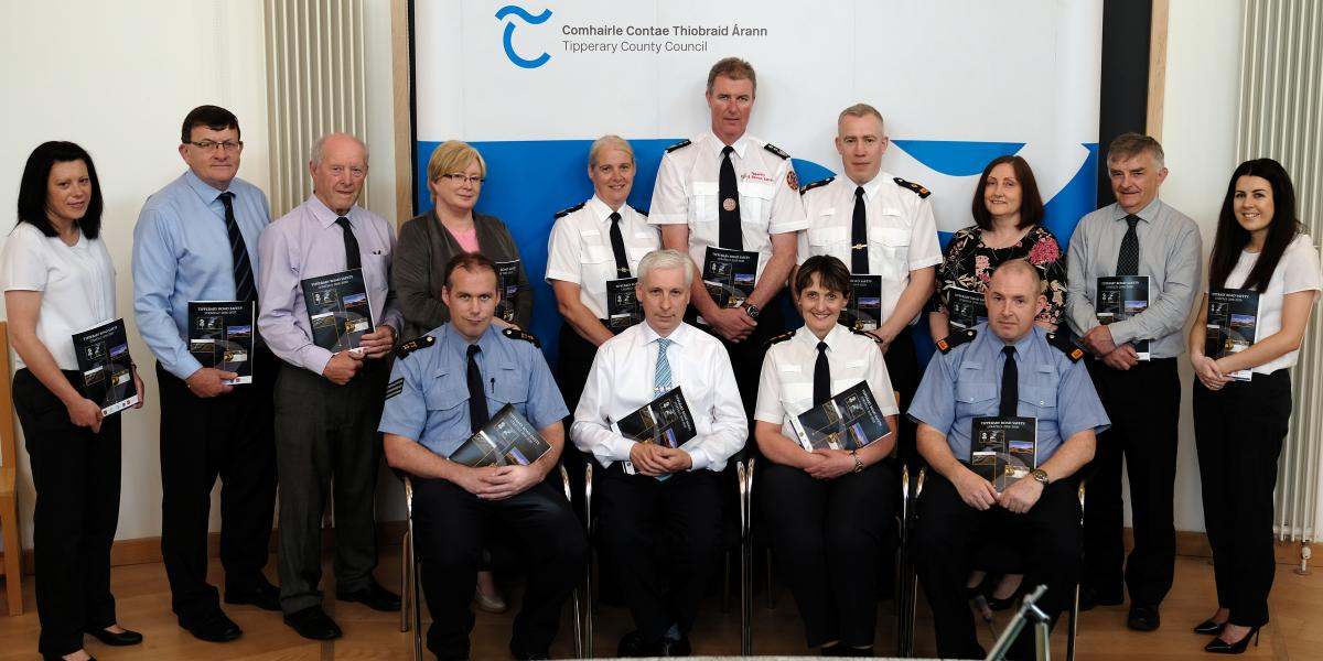 Pictured at the recent launch of the first all-county Road Safety Strategy for Tipperary are: Front row left to right:	Declan O'Carroll, Sergeant in Charge, Nenagh Garda Station; Joe MacGrath, C.E.O., Tipperary County Council; Catherine Kehoe, Chief Superintendent, Thurles; Padraic Powell, Inspector, Thurles.  Back Row left to right:	Fiona Kavanagh, Road Safety Promotional Officer RSA; Marcus O'Connor, Director of Services, Tipperary County Council; Michael F. Hayes, Senior Engineer Roads Department, TCC; J