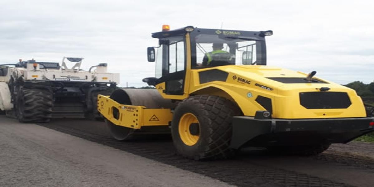 Road recycling works carried out at Knock, Roscrea